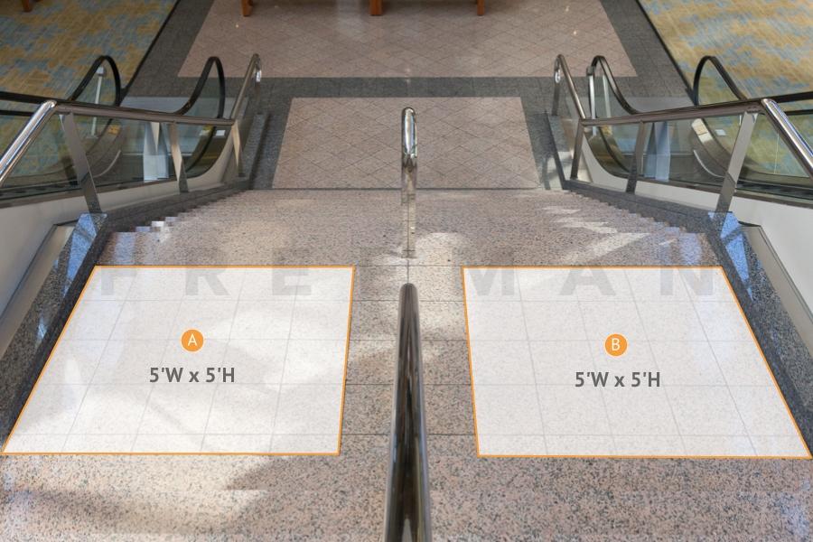 asdasdMezz level to Atrium Level - Upper Stair Landing graphics - CC2-FD2L & FD2R