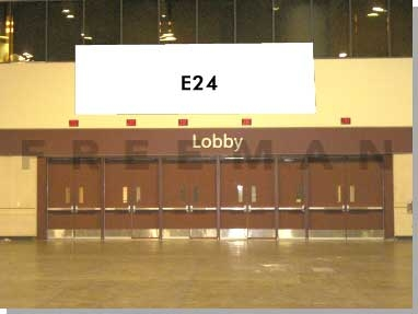 Exhibit Hall Banner E24