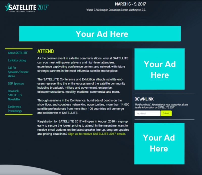 Banner Ads- SATELLITE Website