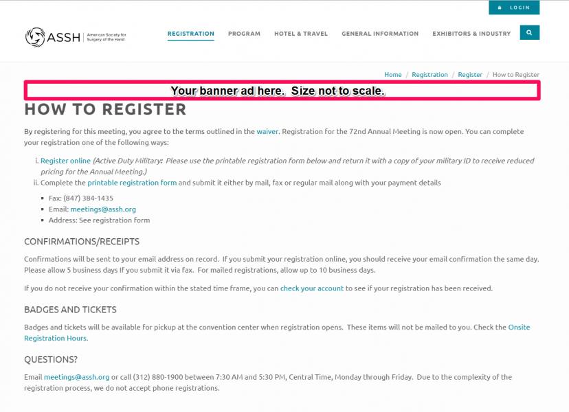Registration Landing Page