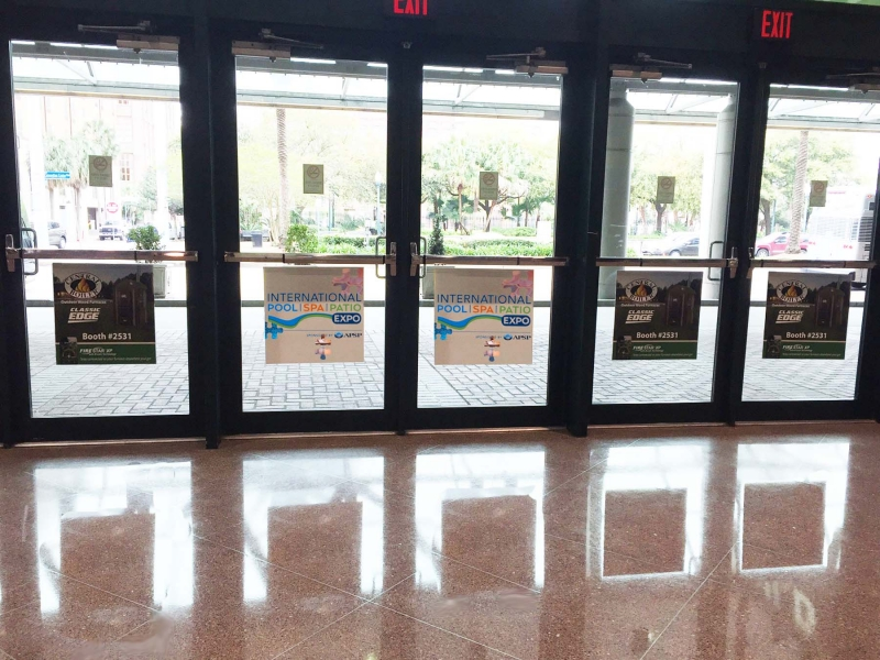 Door Clings E1DC02 - Lobby E 8 Clings & PLANTOUR - Show Opportunity
