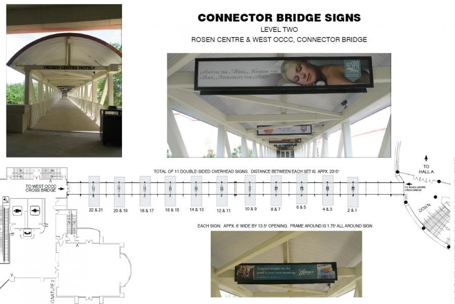 Rosen Center Bridge Signage - Opportunity 11&12 HIMSS Branding