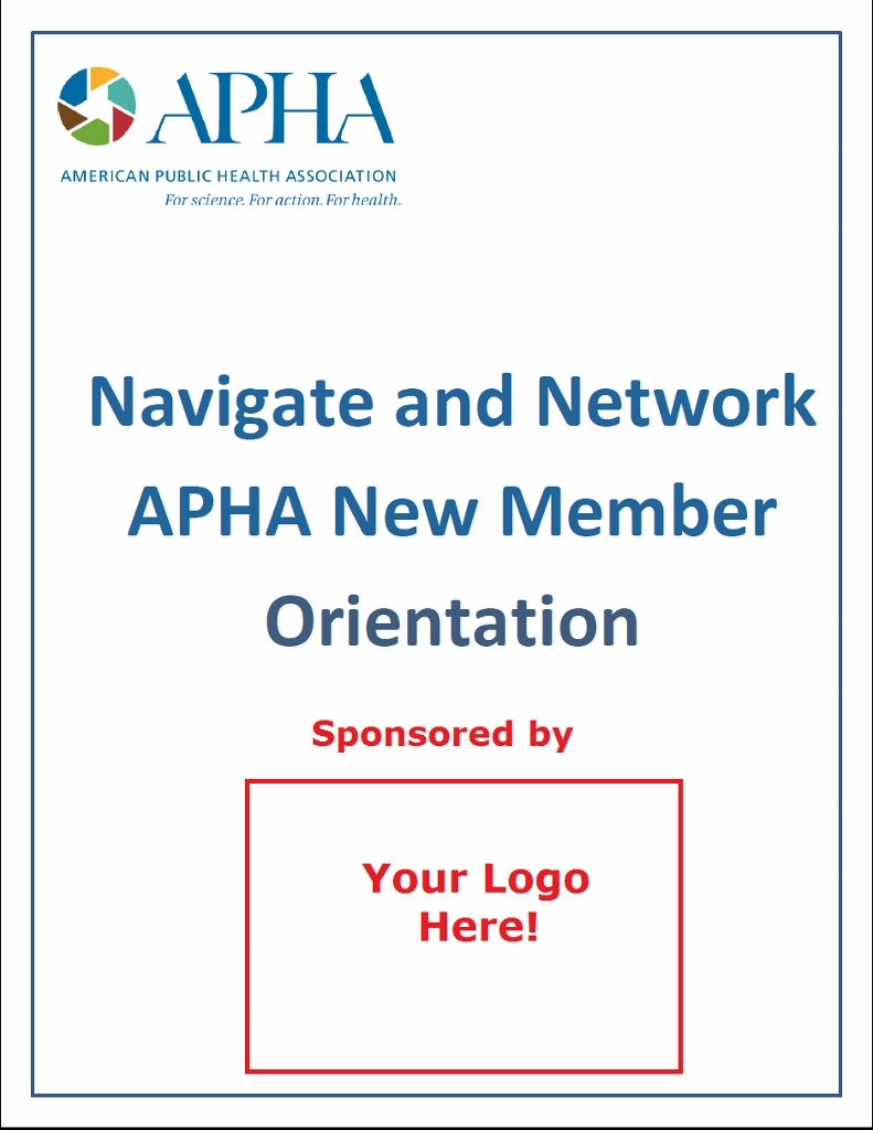 APHA 2017 Orientation: Navigate and Network [1 of 3 Available]