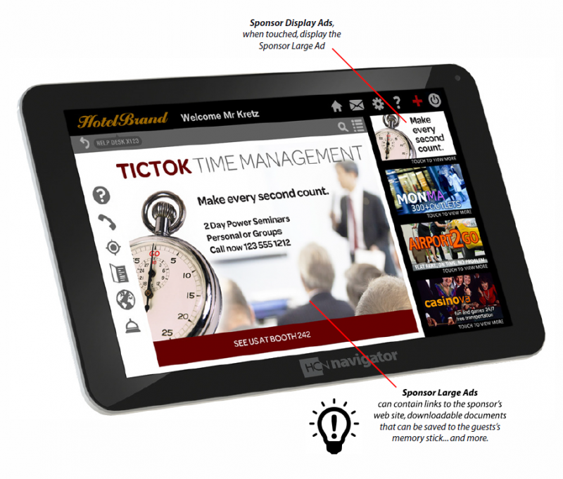 In-room Tablet - Display Ad