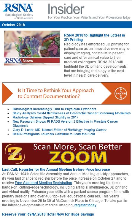 RSNA Insider E-Newsletter