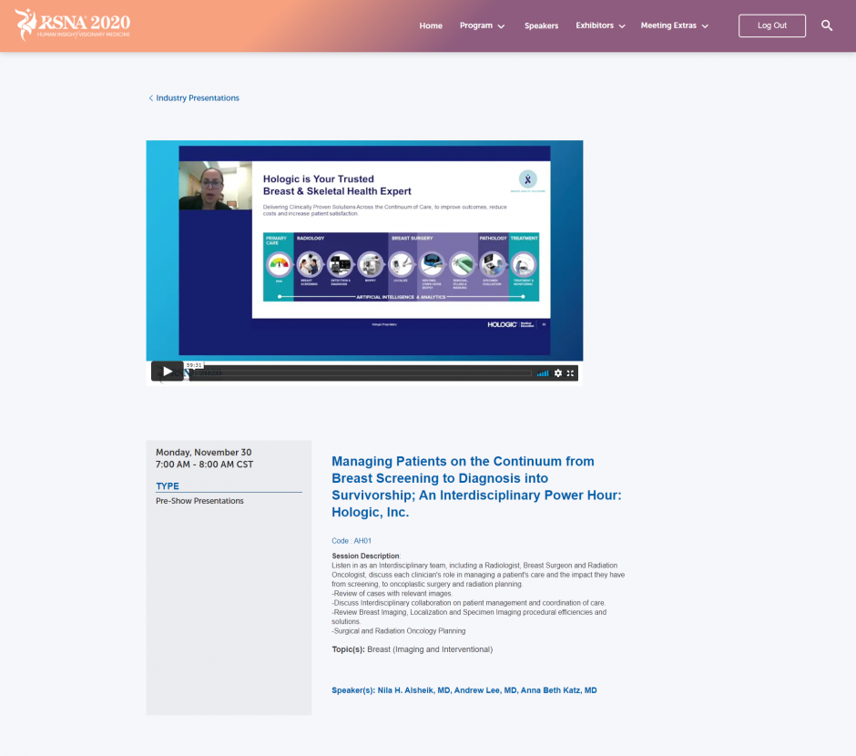 Virtual Industry Presentations and Events