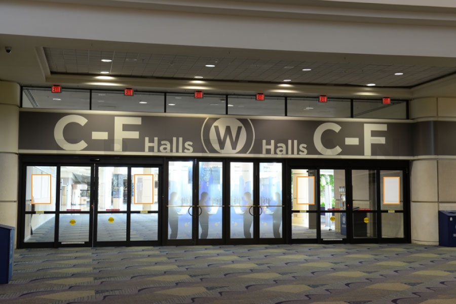 Door Clings Opportunity 1 - Located Outside of Hall B/C (L2-43)