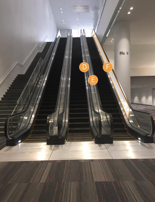 Escalator Clings ESC 11DEF