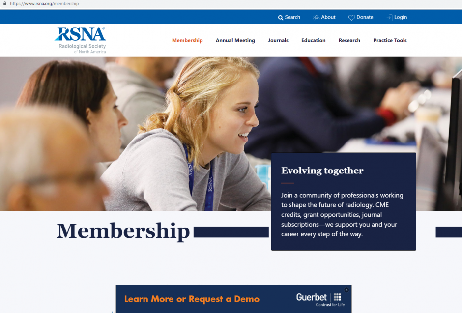 asdasdRSNA.org Website Banner