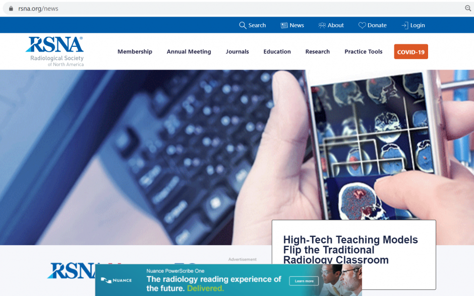 RSNA.org Website Banner