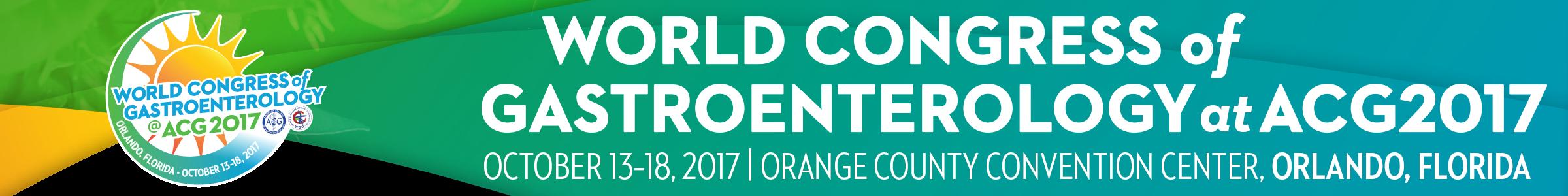 World Congress of Gastroenterology at ACG2017